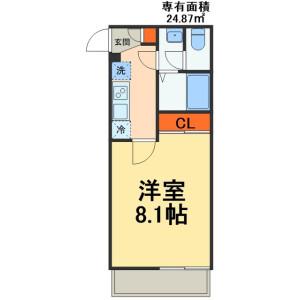 1K Mansion in Makuharicho - Chiba-shi Hanamigawa-ku Floorplan