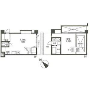 1LDK Apartment in Tamagawadai - Setagaya-ku Floorplan