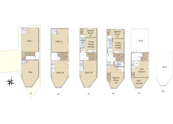 Whole Building Office to Buy in Koto-ku Floorplan