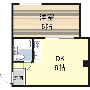 1DK Mansion in Tanimachi(6-9-chome) - Osaka-shi Chuo-ku Floorplan