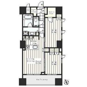 1LDK Apartment in Tsukudocho - Shinjuku-ku Floorplan