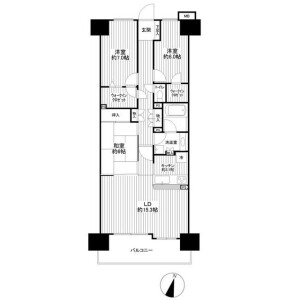 3LDK Apartment in Higashimita - Kawasaki-shi Tama-ku Floorplan