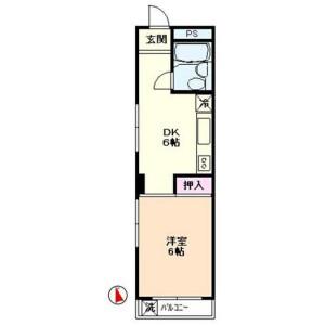 1DK Mansion in Minamioi - Shinagawa-ku Floorplan