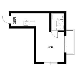 文京区 白山(2〜5丁目) 1R マンション 間取り