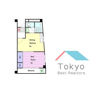 1DK Mansion in Nishishinjuku - Shinjuku-ku Floorplan