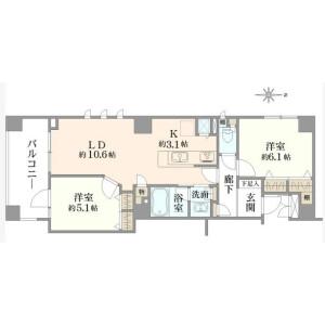 2LDK {building type} in Uehara - Shibuya-ku Floorplan