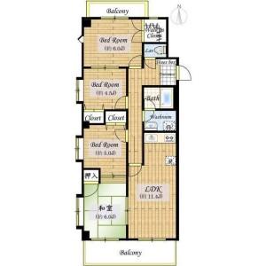 4LDK Mansion in Sekimachihigashi - Nerima-ku Floorplan