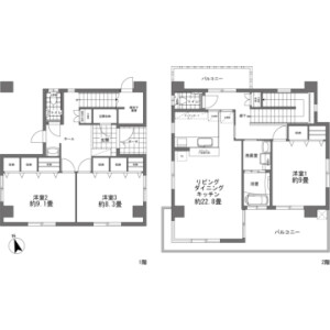 3LDK {building type} in Shiozakicho - Itoman-shi Floorplan