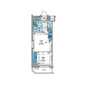 1LDK Mansion in Kyoshincho - Yokohama-shi Minami-ku Floorplan