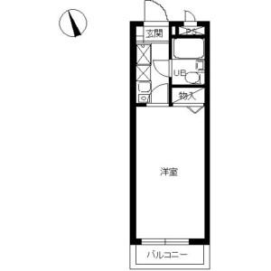 1K Mansion in Akatsuka - Itabashi-ku Floorplan