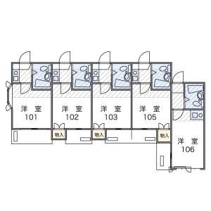 横濱市南區三春台-1K公寓 房間格局