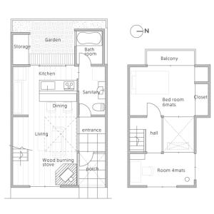 2LDK House in Izumoji tatemotocho - Kyoto-shi Kita-ku Floorplan