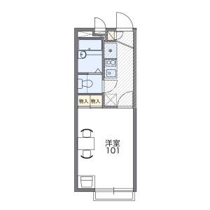 1K Apartment in Tsujimachi - Nagasaki-shi Floorplan