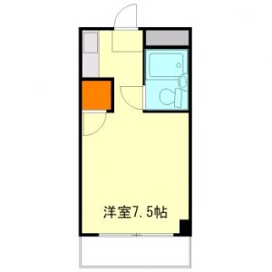 1K Mansion in Hinoka issaikyodanicho - Kyoto-shi Yamashina-ku Floorplan