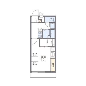 1K Mansion in Morofuku - Daito-shi Floorplan