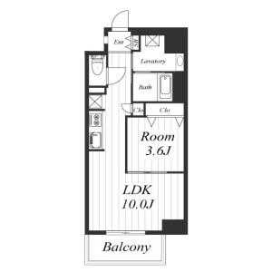1LDK Mansion in Dojima - Osaka-shi Kita-ku Floorplan