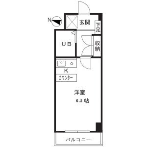 1R Mansion in Kamishinjo - Kawasaki-shi Nakahara-ku Floorplan