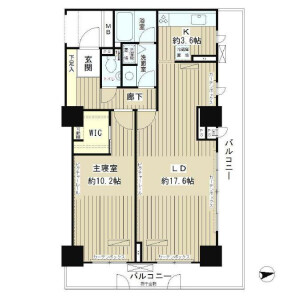 1LDK 맨션 in Jinnan - Shibuya-ku Floorplan