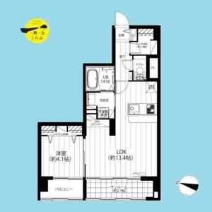 1LDK {building type} in Sendagaya - Shibuya-ku Floorplan