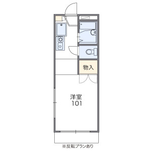 1K Apartment in Mihashi - Saitama-shi Omiya-ku Floorplan