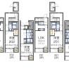 在北区内租赁1LDK 公寓 的 楼层布局