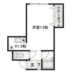1R Apartment in Kamiochiai - Shinjuku-ku Floorplan