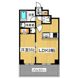 大阪市淀川区 十三東 1LDK マンション 間取り