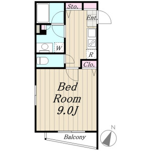 1K Mansion in Wakabayashi - Setagaya-ku Floorplan