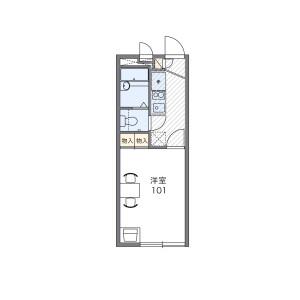 1K Apartment in Gobancho - Kobe-shi Nagata-ku Floorplan