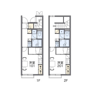 1K Apartment in Sobuecho morikami - Inazawa-shi Floorplan
