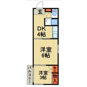 2K Mansion in Kosuge - Katsushika-ku Floorplan