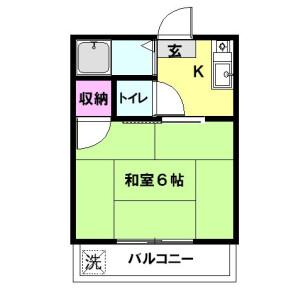 1K Apartment in Yamatocho - Nakano-ku Floorplan