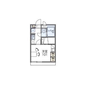 1K Apartment in Nagata - Osaka-shi Joto-ku Floorplan