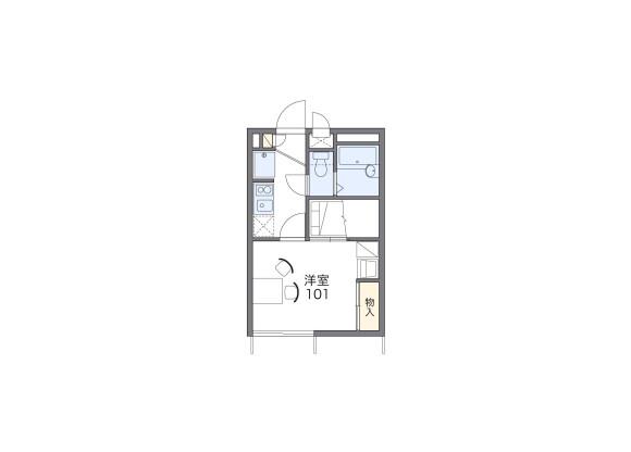 1K Apartment to Rent in Kanazawa-shi Floorplan