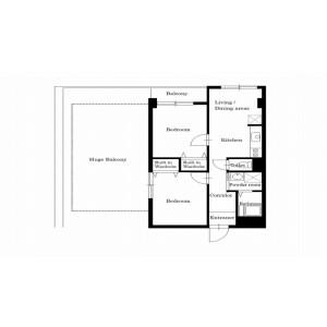 2LDK Mansion in Kamiochiai - Shinjuku-ku Floorplan