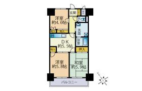 横須賀市 日の出町 3DK マンション