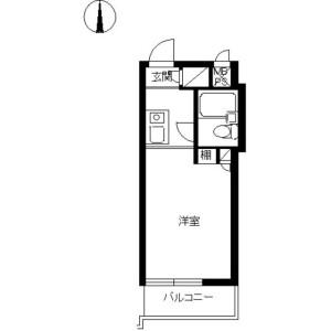 1R 맨션 in Nakaochiai - Shinjuku-ku Floorplan