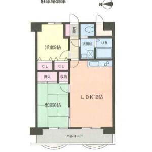 2LDK Apartment in Sagamiono - Sagamihara-shi Minami-ku Floorplan