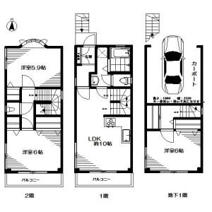 3LDK House in Wada - Suginami-ku Floorplan