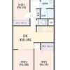 3DK Apartment to Buy in Osaka-shi Nishinari-ku Floorplan