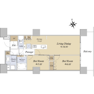 2LDK {building type} in Okubo - Shinjuku-ku Floorplan