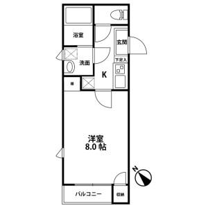 1K Mansion in Higashimukojima - Sumida-ku Floorplan