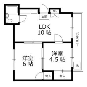 2LDK Mansion in Hongo - Bunkyo-ku Floorplan
