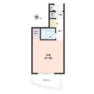 1R Apartment in Ojima - Koto-ku Floorplan