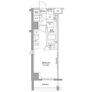 1R Apartment in Ebisu - Shibuya-ku Floorplan