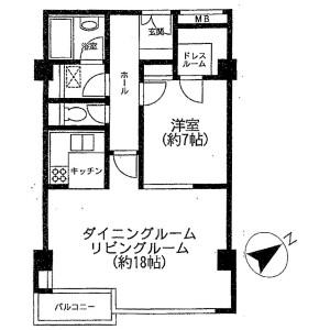 1LDK Apartment in Jingumae - Shibuya-ku Floorplan