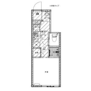 1R Apartment in Katakuramachi - Hachioji-shi Floorplan
