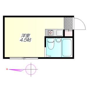 新宿区 北新宿 1R アパート 間取り