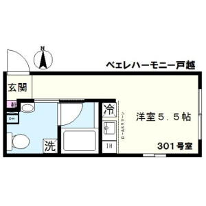 1R Mansion in Togoshi - Shinagawa-ku Floorplan