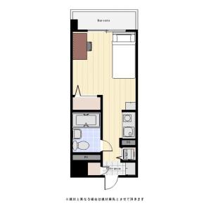 横浜市南区高砂町-1R公寓大厦 楼层布局